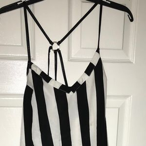 Dresses & Skirts - Black and white stripe maxi dress NWT
